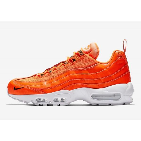 538416-801 Nike Air Max 95 Premium Total Orange Me...