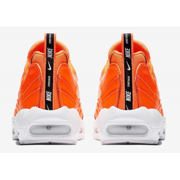 538416-801 Nike Air Max 95 Premium Total Orange Men Shoes