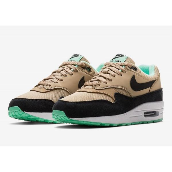 319986-206 Nike Air Max 1 Mint Green Brown Women Shoes