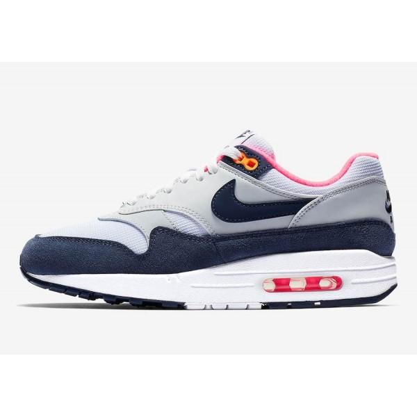 319986-116 Nike Air Max 1 Midnight Navy Pink Women...