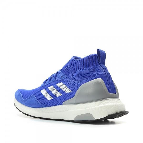 Adidas Men Ultra Boost Mid Run Thru Time Blue Shoes BY3056