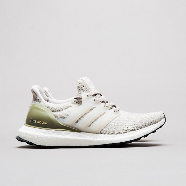 Adidas Men Ultra Boost 3.0 Primeknit Grey Olive Cr...