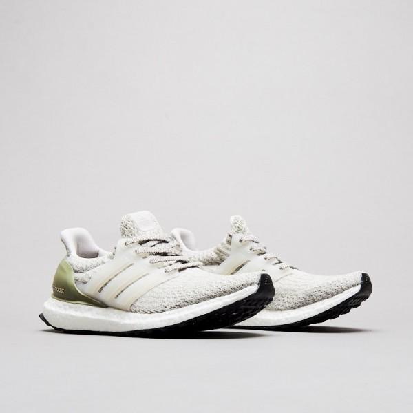 Adidas Men Ultra Boost 3.0 Primeknit Grey Olive Cream Shoes BA8847