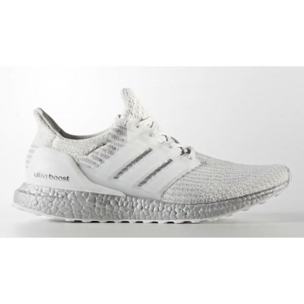 Adidas Men Ultra Boost 3.0 Crystal White Silver Sh...