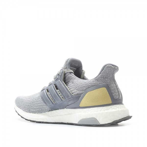 Adidas Men Ultra Boost 3.0 Grey Linen Khaki Shoes BB1092