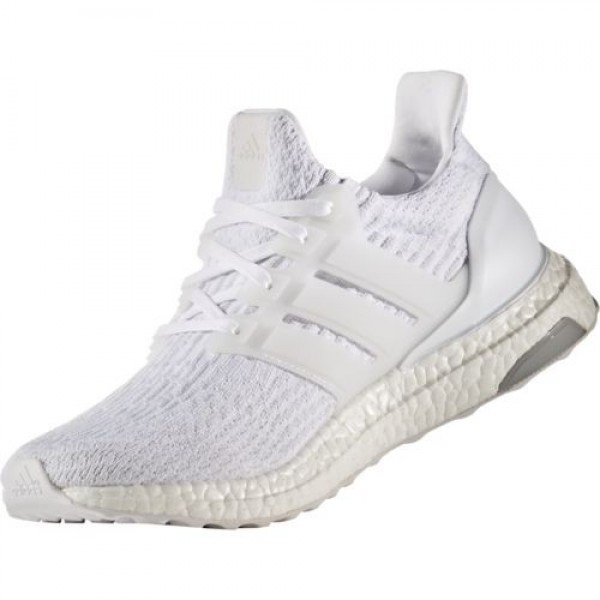 "Adidas Men Ultra Boost 3.0 ""Triple White"" Shoes BA8841"