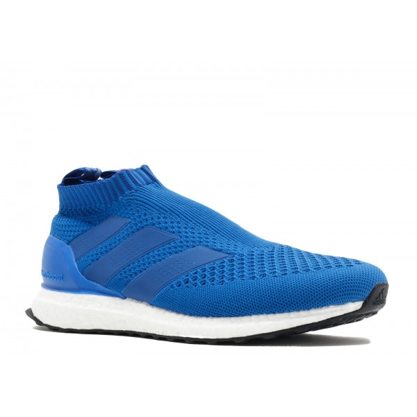 Adidas Men Ace 16+ Purecontrol Ultra Boost Blue Pink Shoes BY9090