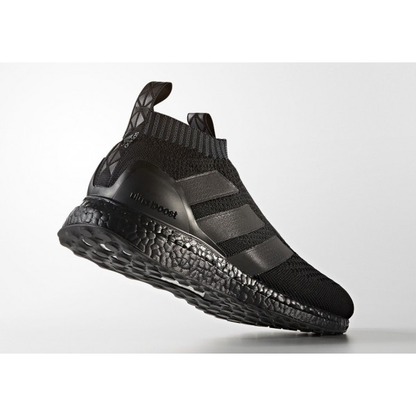 "Adidas Men Ace 16+ Purecontrol Ultra Boost ""Triple Black"" Shoes BY9088"