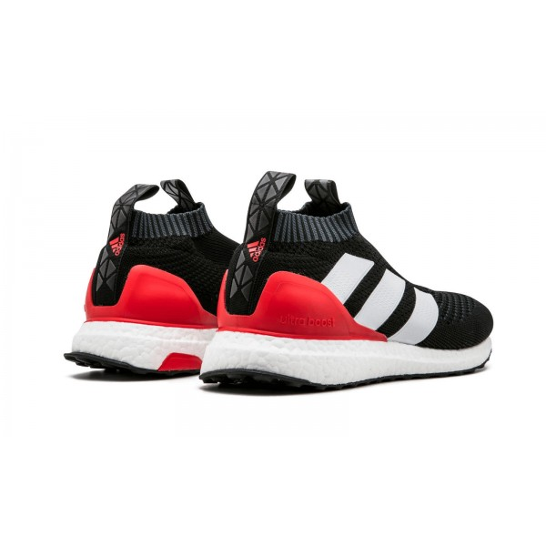 Adidas Men ACE 16+ Pure Control Ultra Boost Black White Red Shoes BY9087