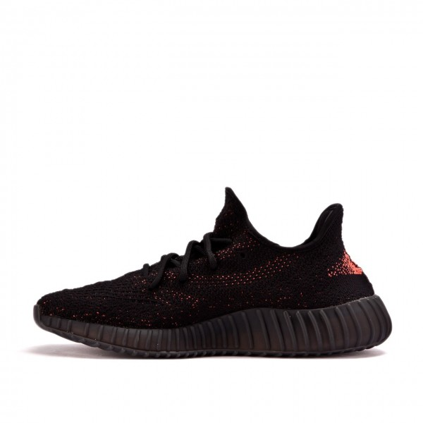Adidas Unisex Yeezy Boost 350 V2 Kanye Black Red Shoes BY9612