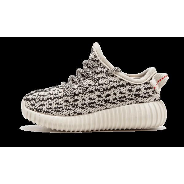 Adidas Kids Yeezy Boost 350 Turtle Dove Black Shoe...