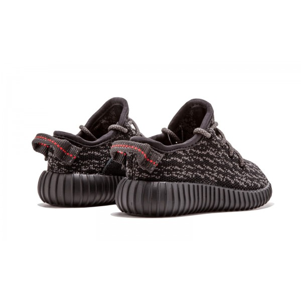 """Adidas Kids Yeezy Boost 350 Infant """"Pirate Black"""" Shoes BB5355"""