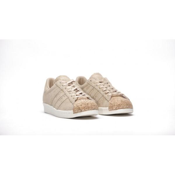 Adidas Women Originals Superstar 80s Cork Brown White Shoes BY2962