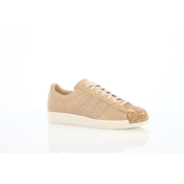 Adidas Women Originals Superstar 80s Cork Beige White Shoes BA7604