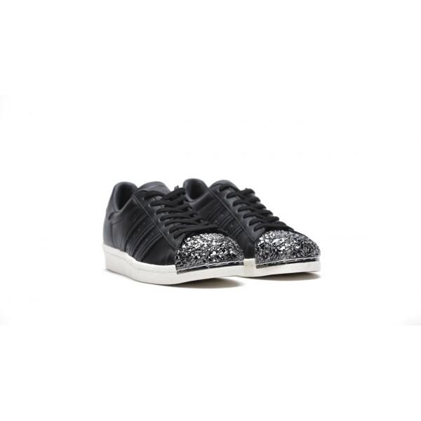 Adidas Women Originals Superstar 80s Black White Shoes BB2033