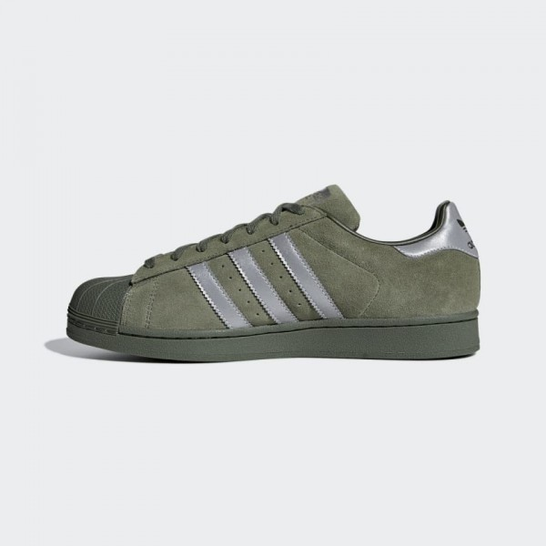 Adidas Men Superstar Casual Shoes Base Green/Black...