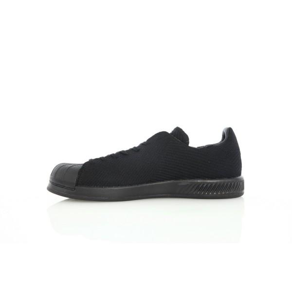 """Adidas Men Superstar Bounce Primeknit """"Triple Black"""" Shoes S82241"""