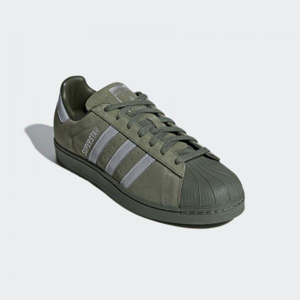 Adidas Men Superstar Casual Shoes Base Green/Black B41988