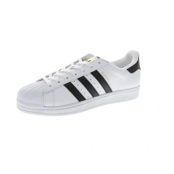 Adidas Men Originals Superstar White Black Shoes C...