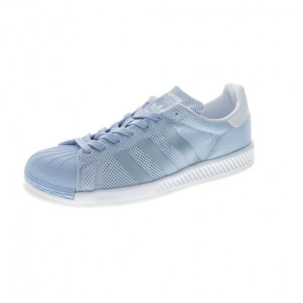 Adidas Men Originals Superstar Bounce Blue White Classic Shoes BB2941