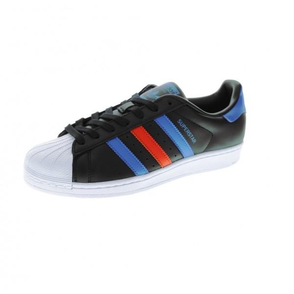 Adidas Men Originals Superstar Black Blue Shoes BB...