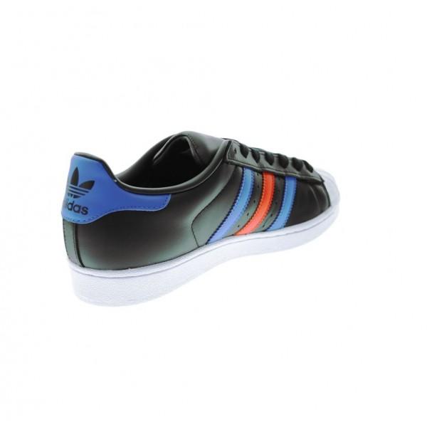 Adidas Men Originals Superstar Black Blue Shoes BB2245