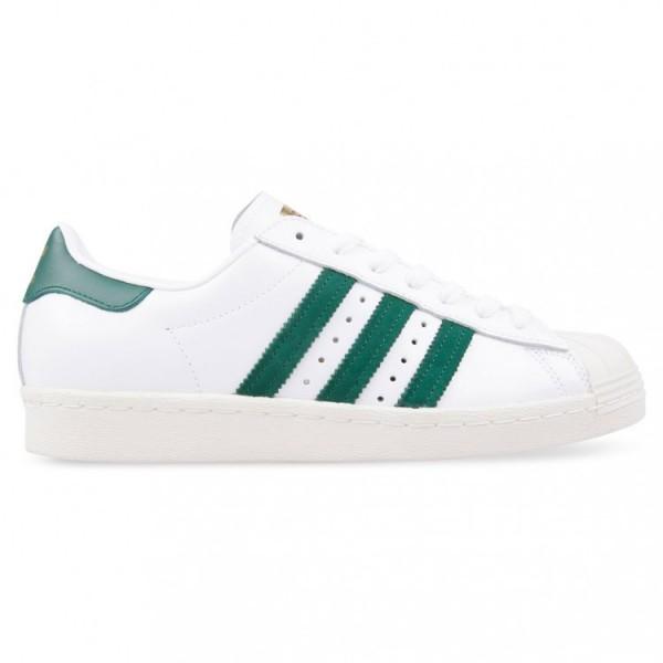 Adidas Men Originals Superstar 80s White Green Sho...