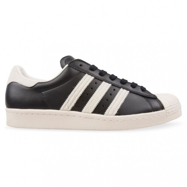 Adidas Men Originals Superstar 80s Black White Sho...
