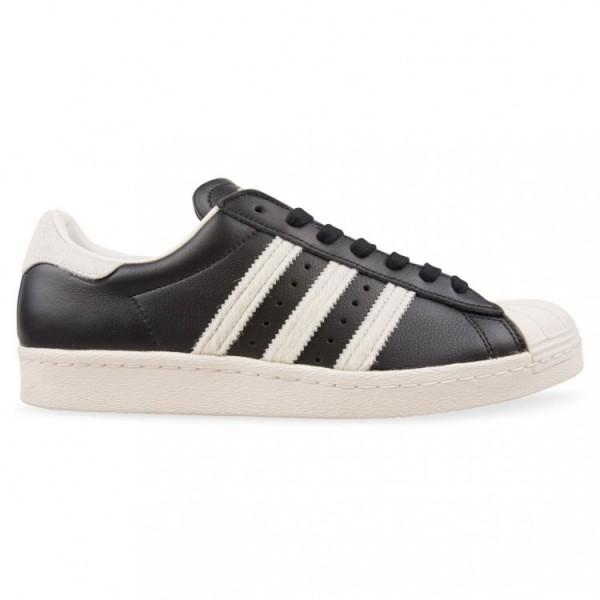 Adidas Men Originals Superstar 80s Black White Sho...