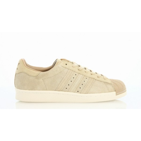 Adidas Men Originals Superstar 80s Beige Khaki Sho...